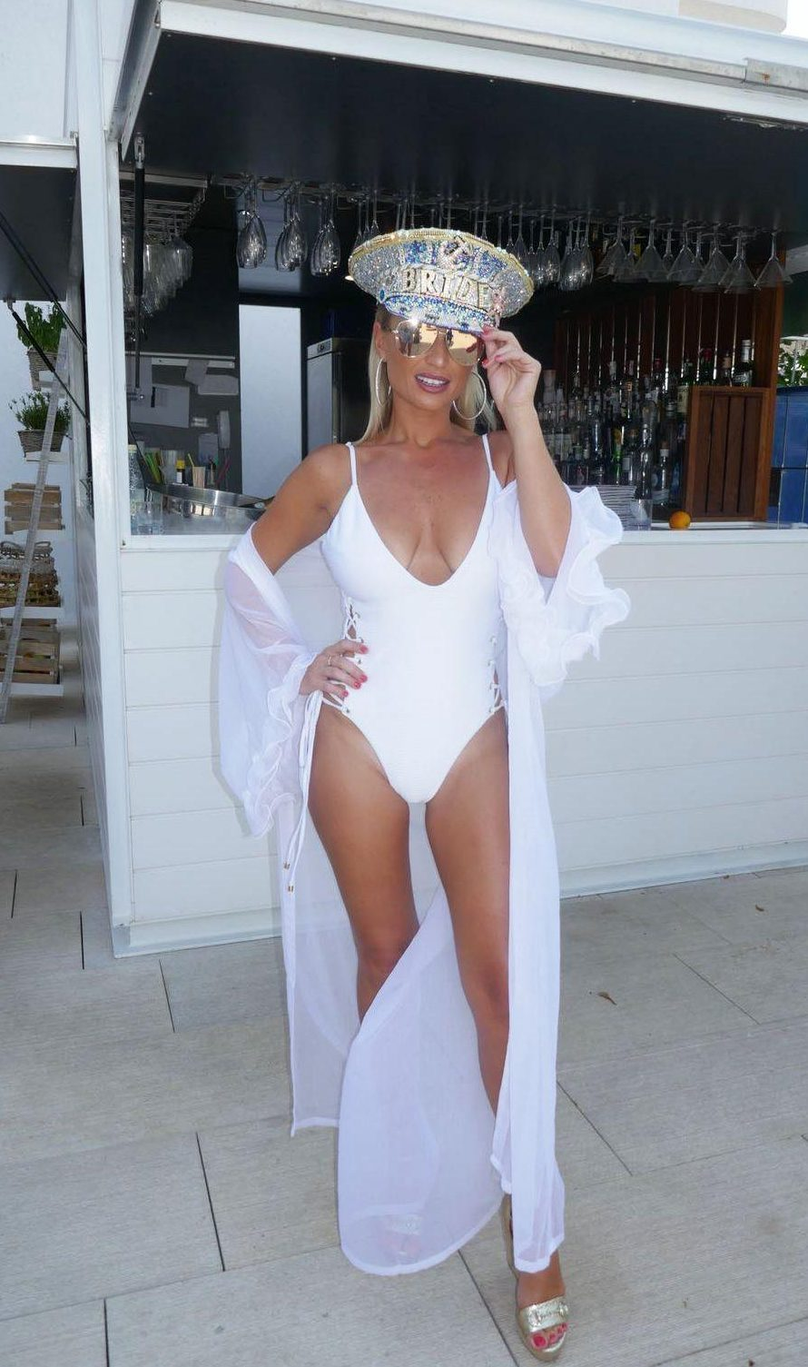 Billie stunned on her hen do in Ibiza earlier this year