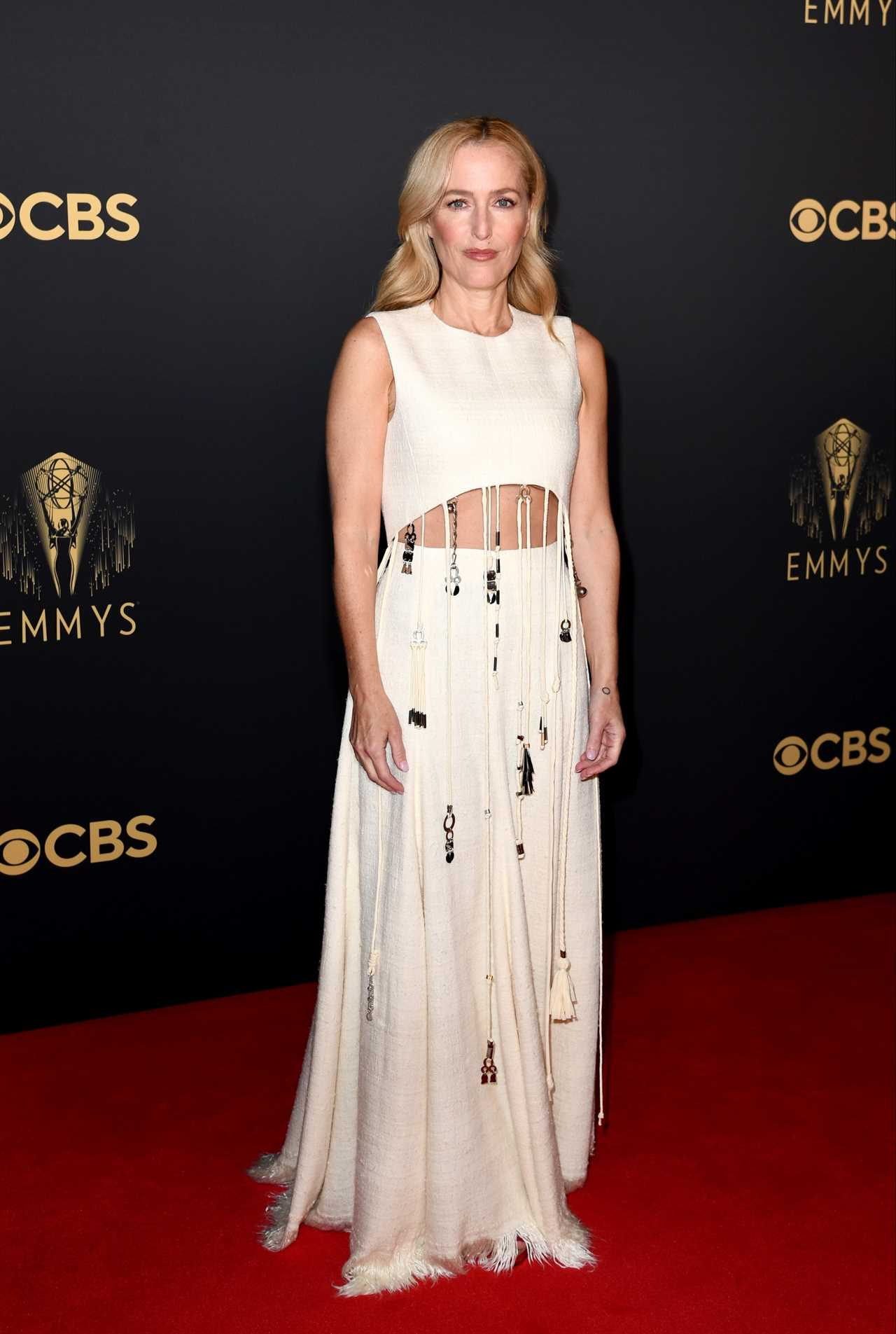 Gillian stunned in a white dress